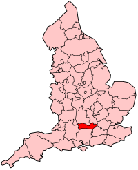 Berkshire's Location within England