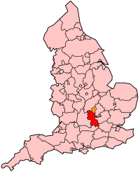 Buckinghamshire's Location within England
