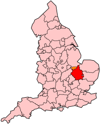 Cambridgeshire's Location within England