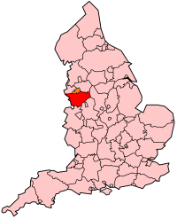 Cheshire's Location within England