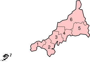 Cornwall's Districts