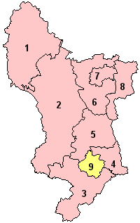 Derbyshire's Districts
