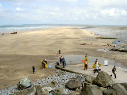 The beach at Westward Ho!, north Devon, looking north towards the Taw and Torridge