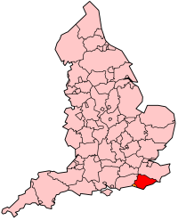 East Sussex's Location within England
