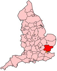 Essex's Location within England