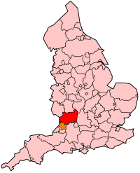 Gloucestershire's Location within England