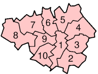 Greater Manchester's Districts