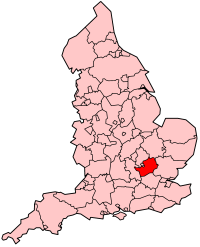 Hertfordshire's Location within England
