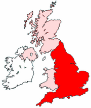 England Location in United Kingdom