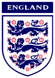 The logo of the England national football team combines the Three Lions with the Tudor rose.