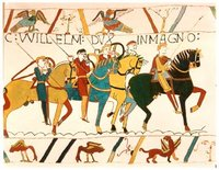 The Norman conquest of England, as depicted in the Bayeux Tapestry