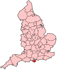 Isle of Wight's Location within England