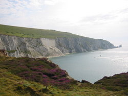 The famous view at The Needles and Alum Bay.
