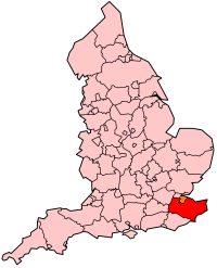 Kent's Location within England