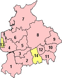 Lancashire's Districts