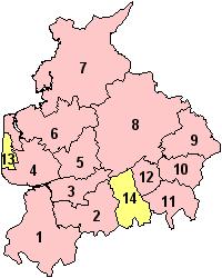 Lancashire's Districts